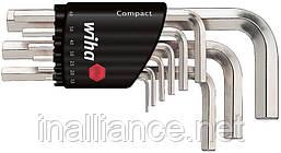 Набор шестигранных штифтовых ключей в держателе Compact, набор 9 шт, Wiha 01174