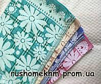Салфетка махровая для рук и кухни 50 х 25 см, Цветы