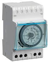 Таймер аналоговый недельный 16А, 1 переключаемый контакт, запас хода 200час, Hager EH171