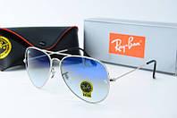 Солнцезащитные очки унисекс Ray Ban голубые Aviator 01-1