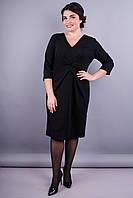 Шеридан. Элегантное платье супер сайз для женщин. Черный.