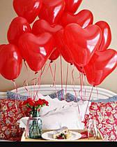 Шар 26 см сердце красное
