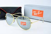 Солнцезащитные очки унисекс Ray Ban Aviator золото зеркало