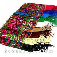 Українська хустка 120х120 (різні кольори)