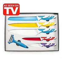 Набор ножей с цветным антипригарным керамическим покрытием из 6 предметов