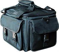Чемодан майстра СM-2700-60, чорний, на змійці, з тканини. Всередині має ящики для інструментів., Чемодан для майстра