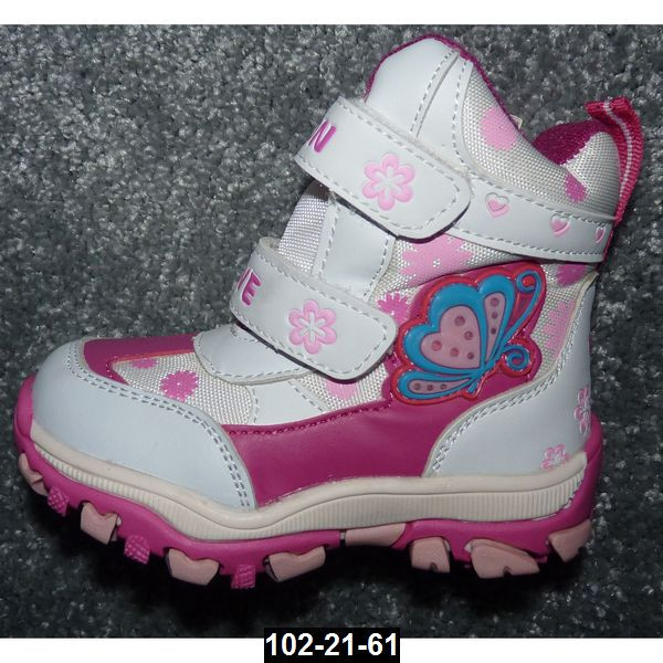 Зимние ботинки для девочки, 28 размер (18.2 см), мембрана, дутики, термоботинки, антискользящая подошва