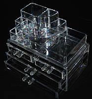 Організатор для косметики з ящиками для біжутерії SF-1157, акриловий, безбарвний, кейси для майстрів манікюру, все для манікюру, контейнера для