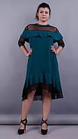 Лика. Стильное платье для женщин супер сайз. Бутылка.