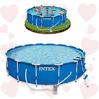 Каркасный бассейн Intex 28236 457х122 см. В комплекте насос-фильтр, лестница, тент, подстилка.