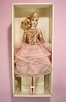 Коллекционная кукла Барби Блестящее и золотое платье для коктейля / Blush Gold Cocktail Dress Barbie Silkstone, фото 8