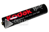 Батарейка сольова KODAK R03, Carbon-Zinc, пальчикова, 1.5В, (Ціна за 40 шт.) Батарейка для годин сольова KODAK R03