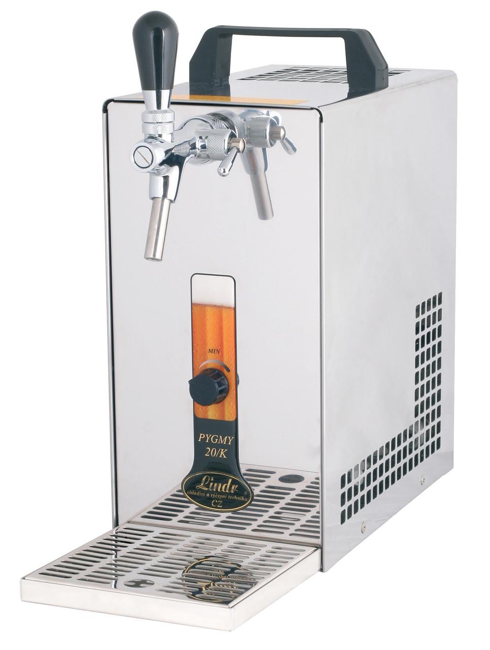 Охладитель пива надстоечный для домашнего бара - 20 л/ч - сухой Pygmy 20/K, с насосом, Lindr, Чехия