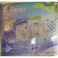 Конверти для дисків 100 в упаковці (a-30)