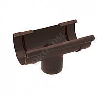 Водосточная система Воронка D125 Инсталпласт коричневая