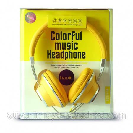 Наушники Havit HV-H2172d, желтые, с микрофоном
