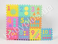 Коврик Мозаика EVA, цифры, 10дет (9мм, 30-30см), в кульке MMT-M0375