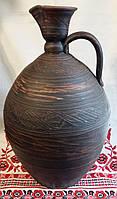 Большой глиняный кувшин с декором