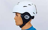 Гірськолижний шолом з механізмом регулювання (PC, p-p S, M, білий)