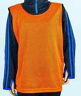 Манишка футбольная юниорская(сетка) оранжевый(11шт)CO-5541-OR