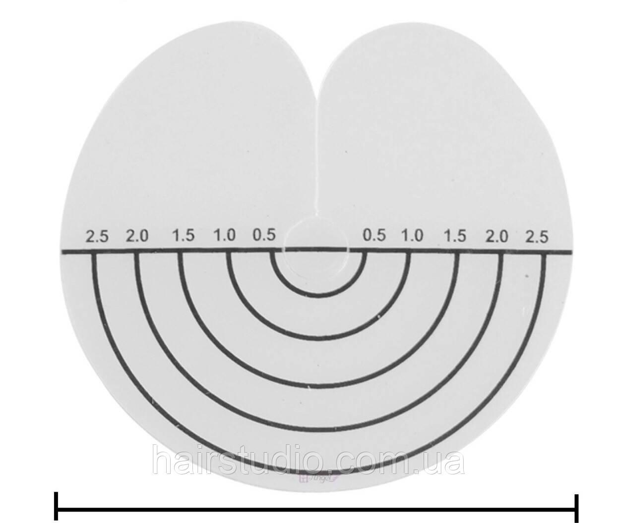 Пластиковые диски-разделители прядей для наращивания с разметкой