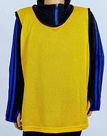 Манишка футбольная юниорская(сетка)желтый(11шт)CO-5541-Y