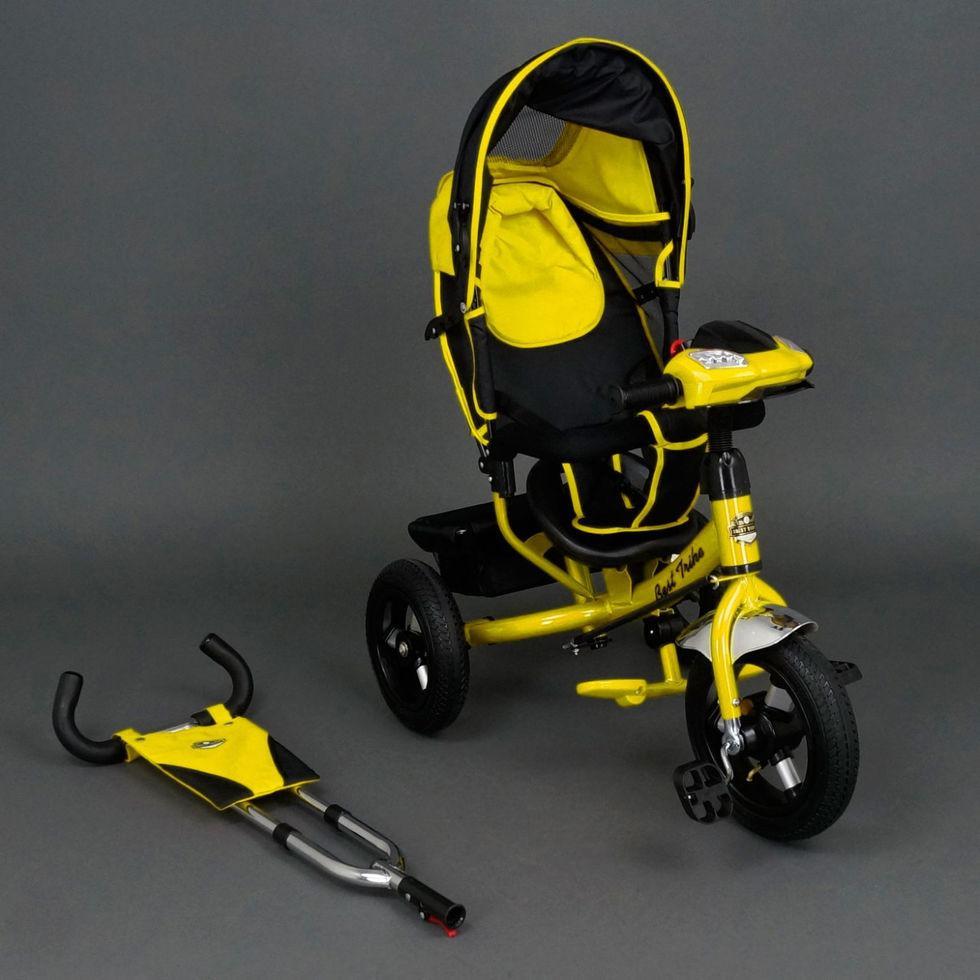 Велосипед трехколесный Best Trike 6588 В желтый, надувные колеса, фара