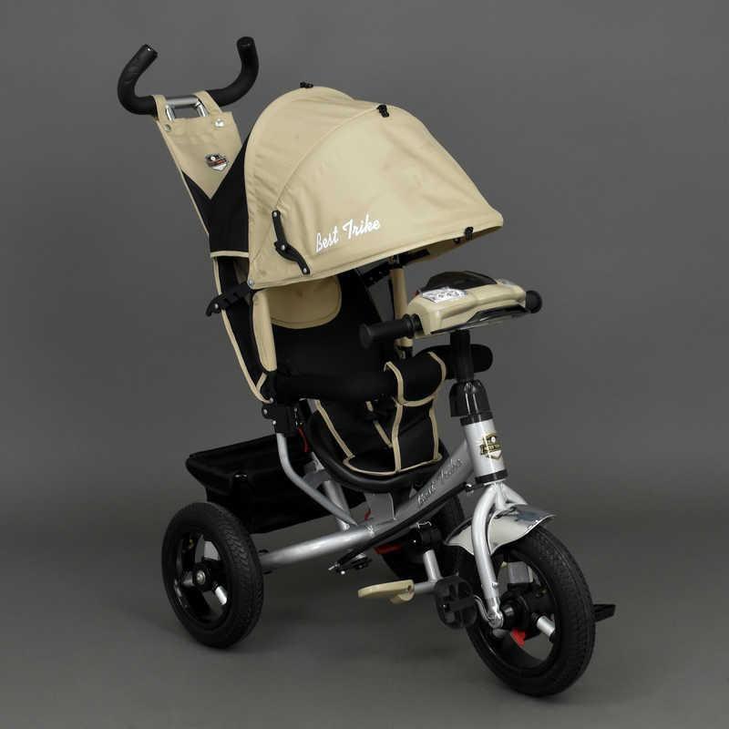 Велосипед трехколесный Best Trike 6588 В бежевый, серебристая рама, на