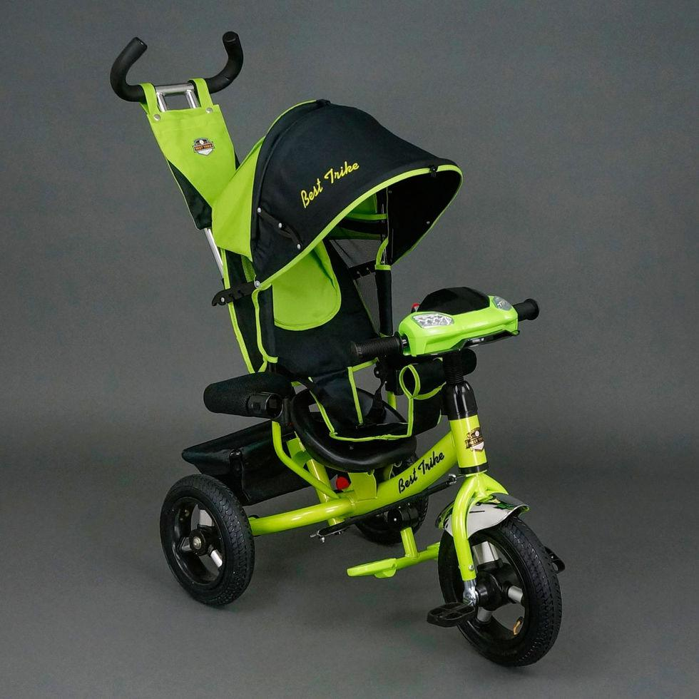 Велосипед трехколесный Best Trike 6588 В салатовый, надувные колеса, ф