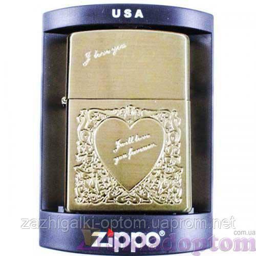 Зажигалка бензиновая Zippo I Love You 2787