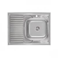Накладная кухонная мойка Imperial 6080-R (0,6мм) Decor
