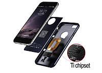 Без проводной зарядки Приемник чехол двойной слой Защитная крышка и гибкий разъем для iPhone 7