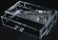 Контейнер для біжутерії SF-1005-6, один ярус, акриловий, безбарвний, кейси для майстрів манікюру, все для манікюру, контейнера для біжутерії