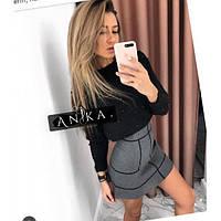 Женская теплая юбка шерсть