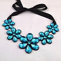 """Ожерелье """"Цветы"""" - Синий цвета + подарок"""