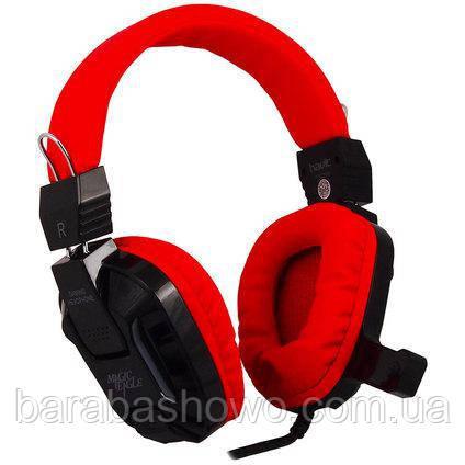 Наушники Havit HV-H2168d, красные, с микрофоном