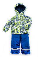 Деми костюм 3в1 (куртка полукомбинезон + жилет) 86 Модный карапуз
