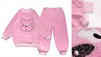 Махровая пижама для девочки 98 Модные детки