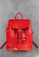 """Кожаный рюкзак """"Олсен"""" Рубин, красный"""
