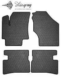 Kia Rio II 2005-2011 Комплект из 4-х ковриков Черный в салон. Доставка по всей Украине. Оплата при получении