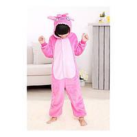 Детская Пижама Кигуруми Стич розовый 10881