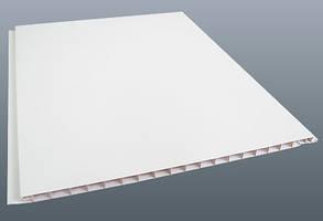 Вагонка пластиковая белая 8мм*250мм*6м