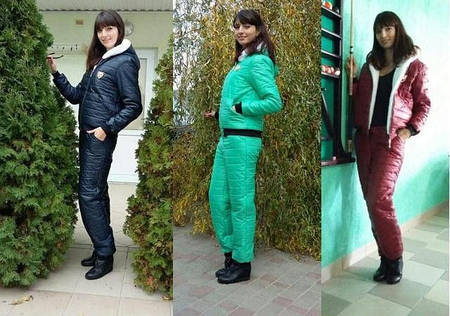 Зимний спортивный костюм женский