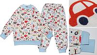 """Детская пижама для мальчика из интерлока """"boy"""" 122 Модные детки"""