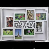 Фотоколлаж Family 8 фото белая арт.K-83