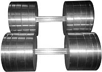 Гантели наборные 2*40 кг (Общий вес 80 кг) Металл (металеві гантелі розбірні наборні разборные для дома)