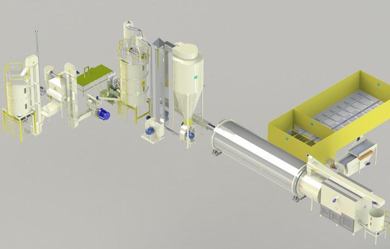 Линия по производству гранул Производительность до 1 т/ч