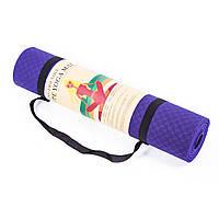 Коврик для йоги, фитнеса 6мм TPE 25580-18PR