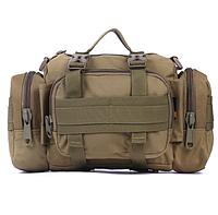 Сумка тактическая поясная, через плечо + крепления к рюкзаку  (PL, нейлон оксфорд 900D, р-р 33х25х8см)