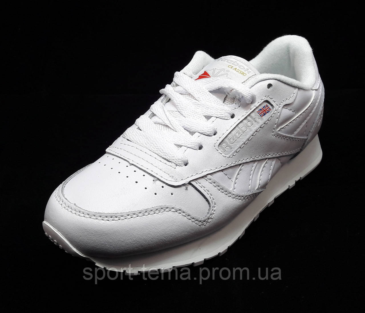 7a4c31c21f75 Кроссовки Reebok Classic Leather белые унисекс (р.  продажа, цена в ...